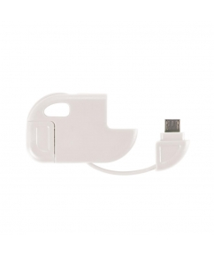 2 in 1 Micro USB kabel wit bedrukken