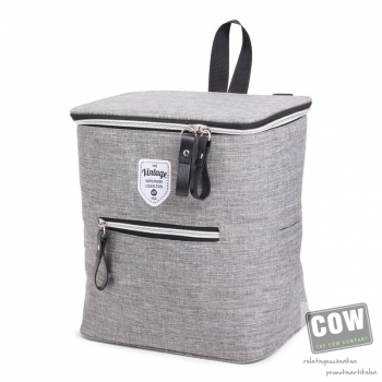 Afbeelding van relatiegeschenk:Twin Tone Bicycle Coolerbag Grey