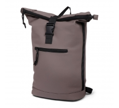 Norländer Dull PU Roll Backpack Taupe bedrukken